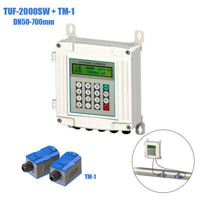 Tuf-2000sw Ultrasonic Flowmeter Digital Liquid Flow Meter Tm-1 Dn50-700mm Rs485