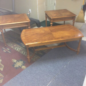 Solid Wood Coffee and End Table Set (Made in Canada)