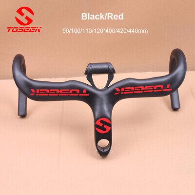 TOSEEK 400/420/440mm Carbon Fiber Road Bike Handlebar Racing Drop Bars Stem  ()