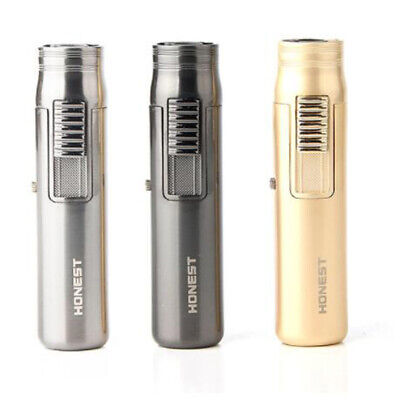Honest Mini Pocket Windproof Jet Torch Flame Refillable Butane Gas Cigar Lighter ()
