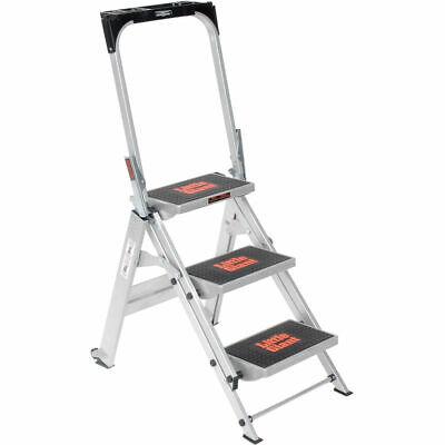 Little Giant Safety Aluminum Step Ladder - 3 Step - 10310ba
