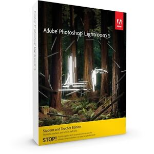 Adobe Photoshop Lightroom 5 Win/Mac Student Teacher Edition 65215224 2 Computers