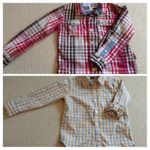 Toddler Boy Semi Formal Buttoned up Shirts Size 5 years