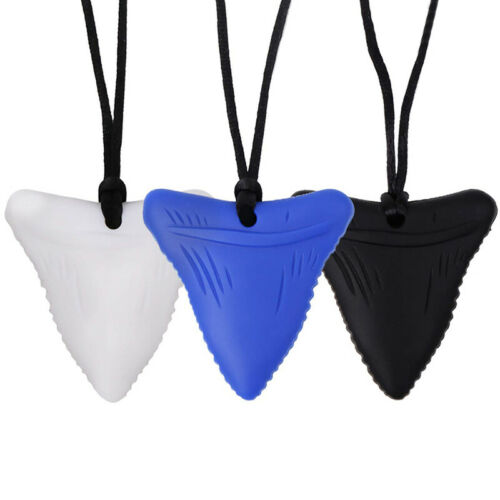 Shark Teethers Tooth Chew Necklace For Kids Boys Girl Chewin