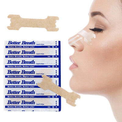 100 NASAL STRIPS (LARGE/TAN) Better Breath / Reduce Snoring Right Now