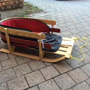Wooden baby sled with cushion Kitchener / Waterloo Kitchener Area image 1