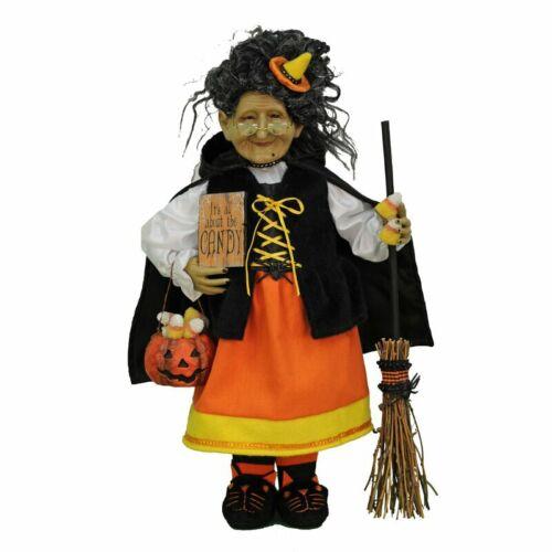 Witch FIgurine Statue Halloween Candy Corn