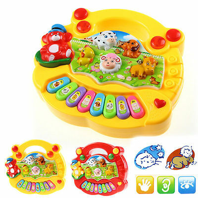 Baby Kids Musical Educational Animal Farm Piano Developmental Music Toy Gift ](Kids Educational)