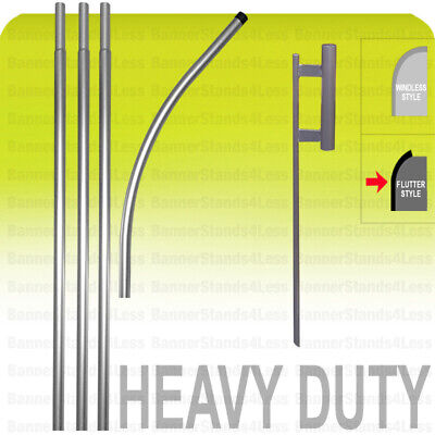 Heavy Duty Swooper Pole Spike Ground Stake 15 Kit No Flag Flutter Style