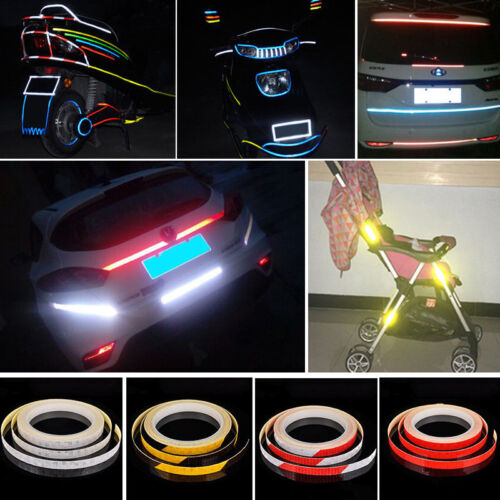 Bike Reflector Reflective Sticker Safety Warning Cycle Fluorescent Decal Tape