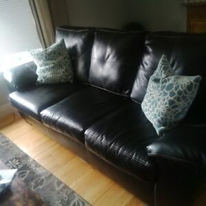 Faux Leather couch and recliner