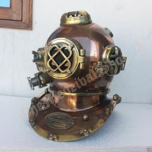 """U.S Navy Mark V Vintage Antique Scuba Divers Helmet Vintage 18"""" Diving Helmet"""