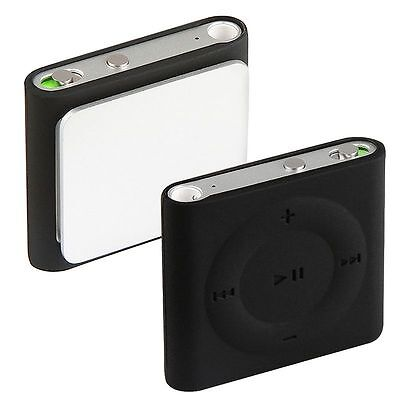 BLACK SILICONE SHIELD CASE FOR IPOD SHUFFLE 4TH GEN 4G