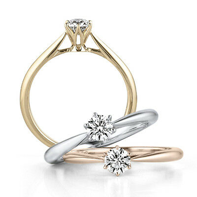 18K White/Gold/Rose Gold 925 Silver Women's Gift Engagement Party Rings Size 4-9 ()