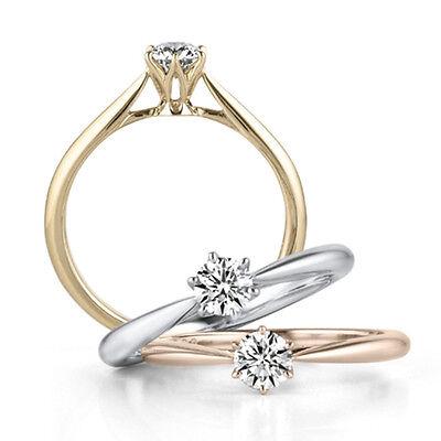 18K White/Gold/Rose Gold 925 Silver Women's Gift Engagement
