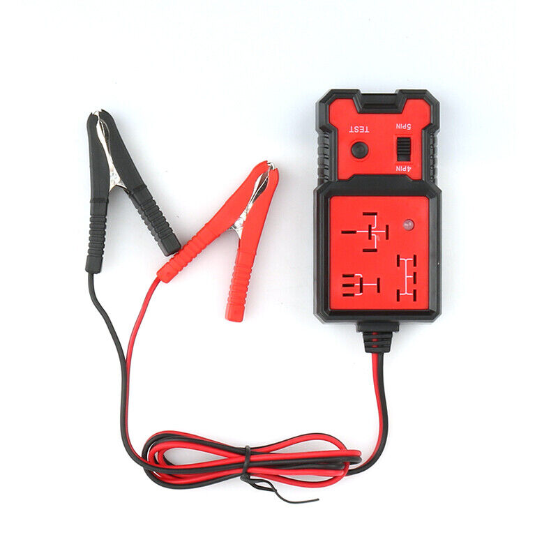 Automotive Electronic Relay Tester Alligator Clip Car Tester Diagnostic Tool Red