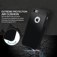 2in1 Black Soft Rubber Case With Hard Plastic Cover iPhone 5 &5s