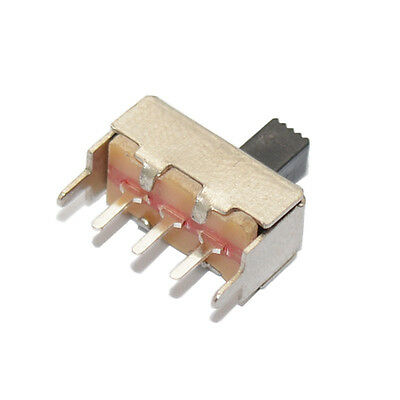 10pcs Ss12f44g4 3 Pin Dip 2 Position Spdt 1p2t Vertical Slide Switch