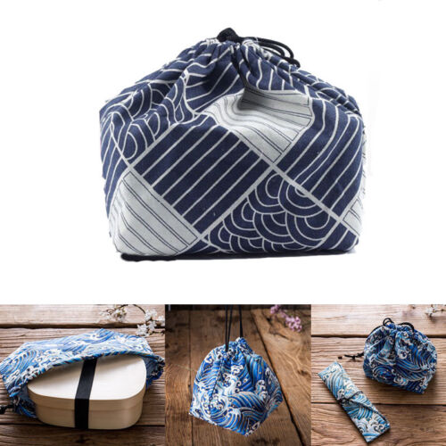 portable japanese style bento tote pouch eco