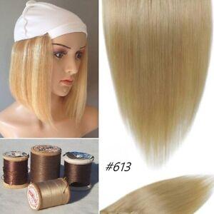 HUMAN HAIR ready to Sew to Chemo cancer Hat,Cap,Beanie,Turban... St. John's Newfoundland image 6