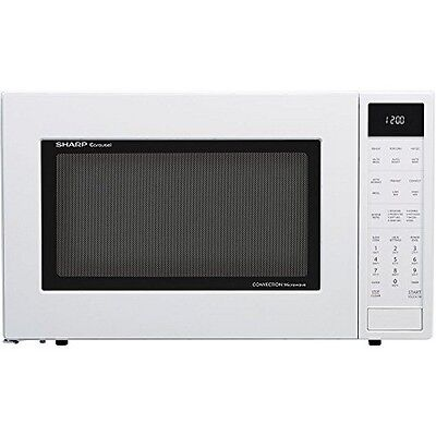 Sharp 1.5 cu. ft. Microwave Oven with Convection Cooking-Auto Defrost in White