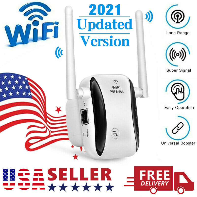 New WiFi Range Extender Internet Booster Wireless Signal Repeater Amplifier
