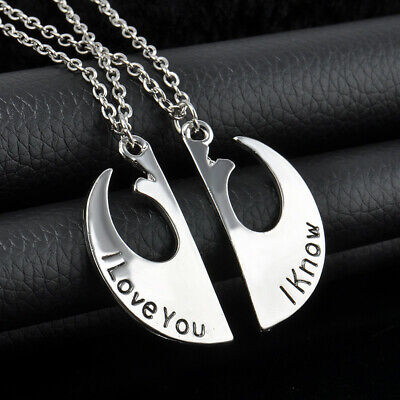 UK Star Wars Movie Rebel Insignia Double Necklace Pair for Couple Love Gift