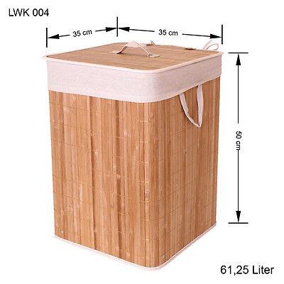 Bambus Wäschekorb Wäsche box Wäschetruhe Wäschesammler Leinen Kleidersack LWK004
