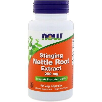 Now Foods STINGING NETTLE Root Extract 250 mg, 90 Veg Caps PROSTATE HEALTH 250 Caps Now Foods