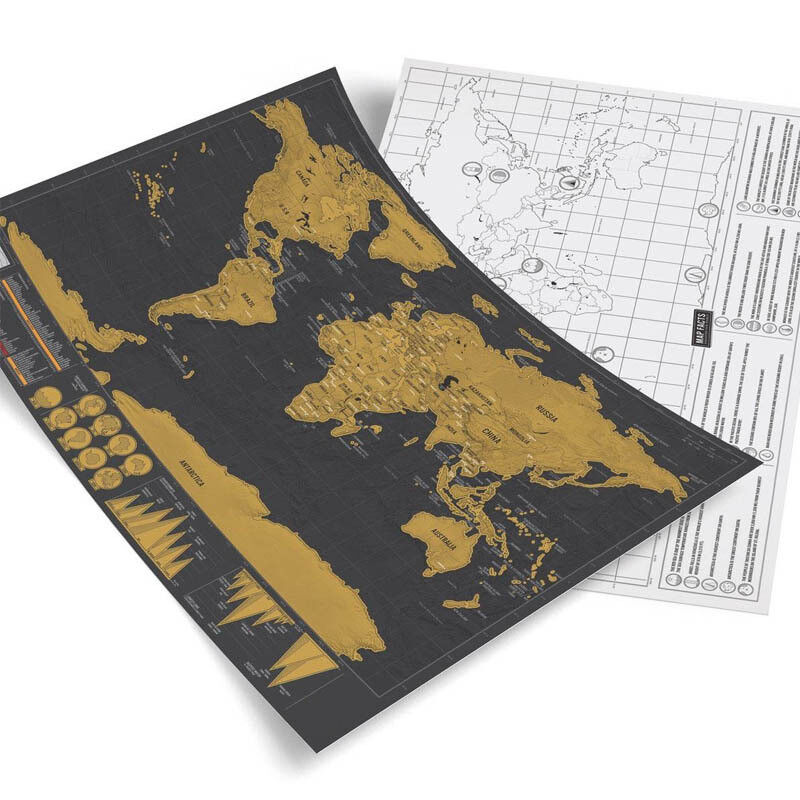 Deluxe travel edition scratch off world map poster personalized deluxe travel edition scratch off world map poster personalized journal log gumiabroncs Gallery