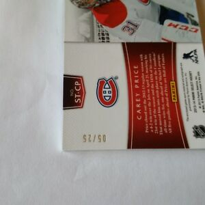 Carey Price Game Jersey Card and Autograph numbered 5 of 25 Ottawa Ottawa / Gatineau Area image 2