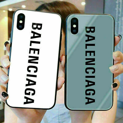 Cover Tempered Glass Balenciaga Case Fit Apple iPhone 11 X XR XS Max 6s 7 8+Plus