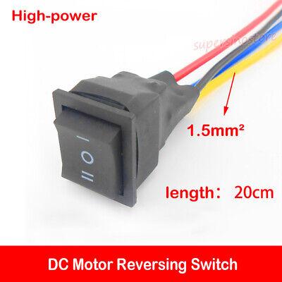 High-power Dc Motor Reversing Switch Forwardreverse Small 3 Pole Cw Ccw For Diy