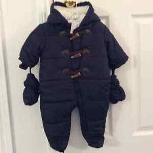 The Childrens Place Snowsuit New 3/6 months 11-15 lbs Navy Blue