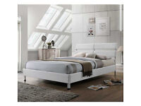 leila 4ft6 Double Fabric bed Frame