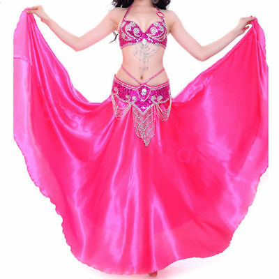 New Belly Dance Costume Set Bra Top Belt Skirt Dress Rio Carnival Bollywood set - Belly Dance Costume