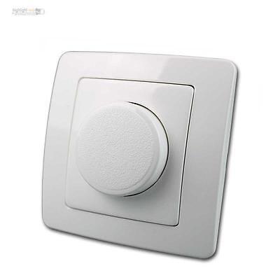 LED Dimmer EKONOMIK unterputz, Dimmerschalter weiß, 250V~/10A, UP, 0W-100W LEDs ()