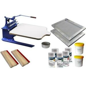 1 color screen printing Press Kit Household Shirt press & Tools