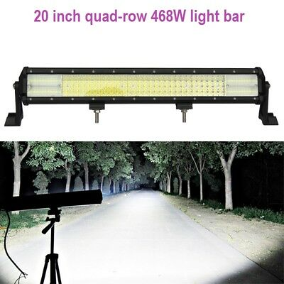 Best LED light bar 20 inch 468W quad-row for 4wd, off-road, car, truck, SUV, (Best Light Bars For Cars)