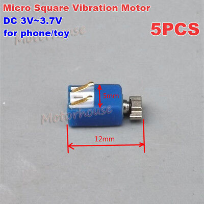 5pcs Mini Micro 5mm Coreless Vibration Motor Dc 3v 3.7v Vibrator Diy Phone Toy