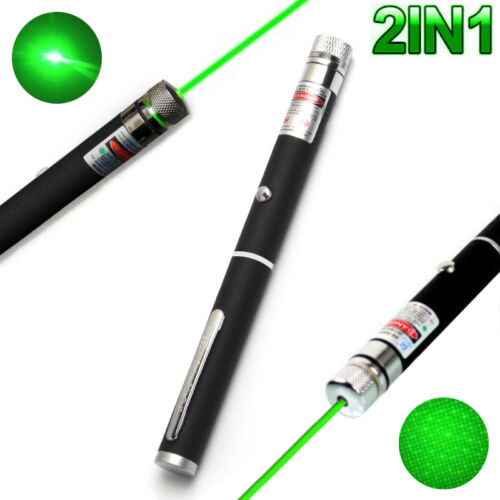 2IN1 10mW 532n High Power Green Beam Laser Pointer Lazer Projector Pen DJ Stage