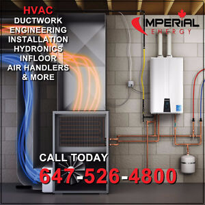 DUCTWORK | NEW GAS FURNACE | TANKLESS | AIR CONDITIONER| BOILERS