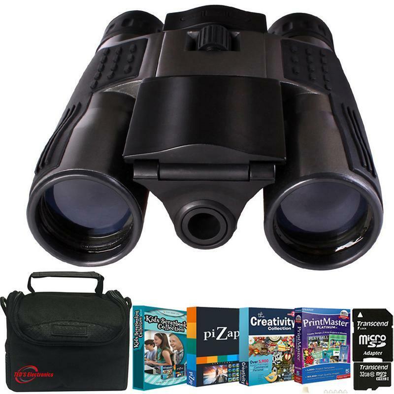Vivitar VIV-CV-1225V 8MP 2-in-1 Binocular Black with Photo Editing Kit