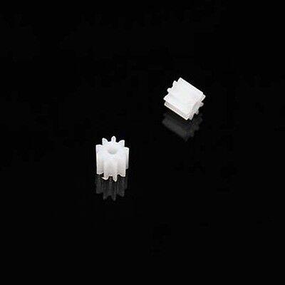 20pcs Plastic 0.5m Modulus Cogs Gear Gearbox Motor Shaft 2mm Wheel 9t Teeth Diy