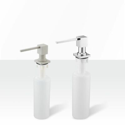 Deck Mounted Soap Dispensers Square Pump Chrome Finished Built In Counter Top