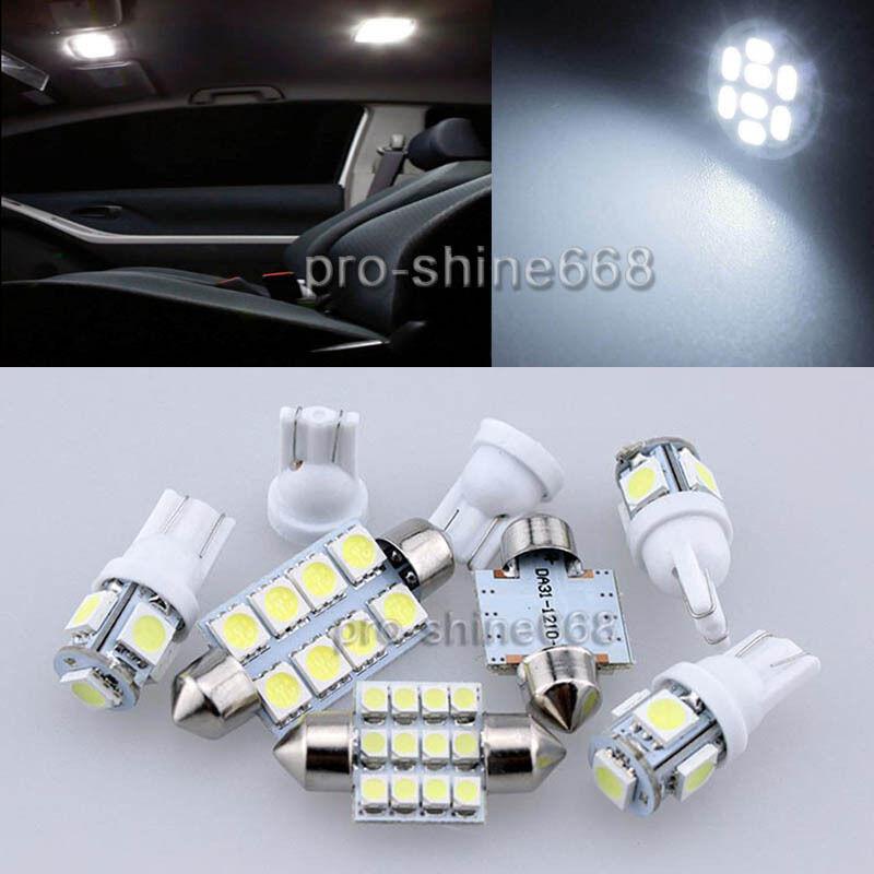 12PCS White LED Lights Interior Package Kit For Acura TSX