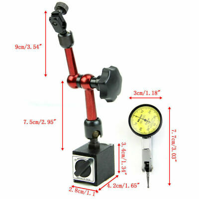 Dial Indicator Magnetic Base - Magnetic Flexible Base Holder Stand & Dial Test Indicator Gauge Scale Precision