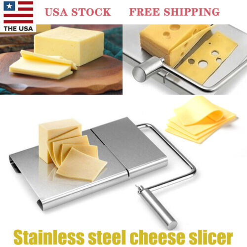 Cheese Butter Slicer Cutter Board Stainless Steel Wire Cutte