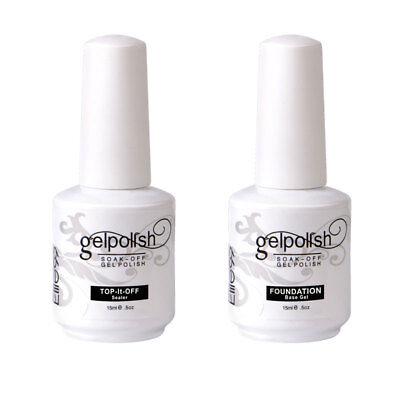 15ML Base Top Coat Sealer Primer for UV Gel Polish Nail Art DIY Elite99 US STOCK