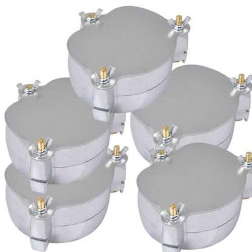 5*Dentist Aluminium Denture Flask Compressor Part dental Lab For Clinic/Hospital